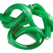 Green gummy candy (licorice) rope set, isolated on white closeup — Stock Photo #9336127