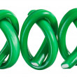 Green gummy candy (licorice) rope set, isolated on white closeup — Stock Photo #9467914