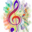 Colorful musical background — Imagens vectoriais em stock