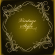 Elegant old frame. Vector - Stock Vector