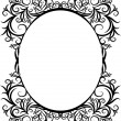Stock Vector: Elegant oval frame.