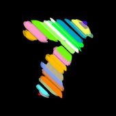 Abstrakt färgstarka nummer 7. — Stockvektor