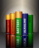 Set of AA batteries — Stock Vector