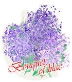 Bouquet de lilas dans un style aquarelle — Vecteur