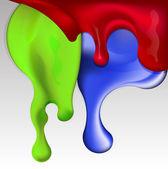 Pintura goteando aislado — Vector de stock