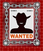 Wanted poster image vectorized — Stock Vector