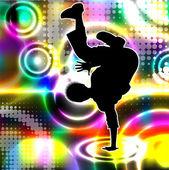 Disco dancer. Vector eps10 illustration. — Stock Vector