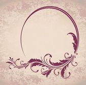 Elegant oval frame — Stock Vector