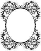 Elegante cornice ovale. — Vettoriale Stock