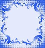 Vintage blue frame. — Stock Vector