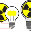 Danger of nuclear energy for the planet — Stock Vector
