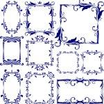 Set of 10 decorative frames — Stock Vector #8865926