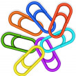 Abstract colored paper clips - Stock Vector