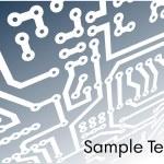 Abstract hi-tech background, circuit board — Stock Vector #8866015