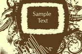 Vector grunge border for text — Stock Vector