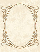 Vintage oval frame — Stock Vector