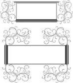 Due cornici decorative — Vettoriale Stock