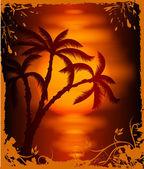 Tropical background. Vector — Stock Vector