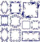 Set of 10 decorative frames — Stock Vector