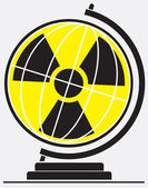 Danger of nuclear energy for the planet — Cтоковый вектор