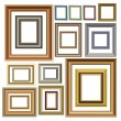 Vector de stock : Picture photo frames vector luxury vintage design