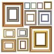 Picture photo frames vector luxury vintage design — Stock Vector