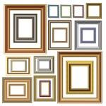 Picture photo frames vector luxury vintage design — Stock Vector