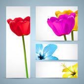 花パンフレット自然テンプレート — ストックベクタ