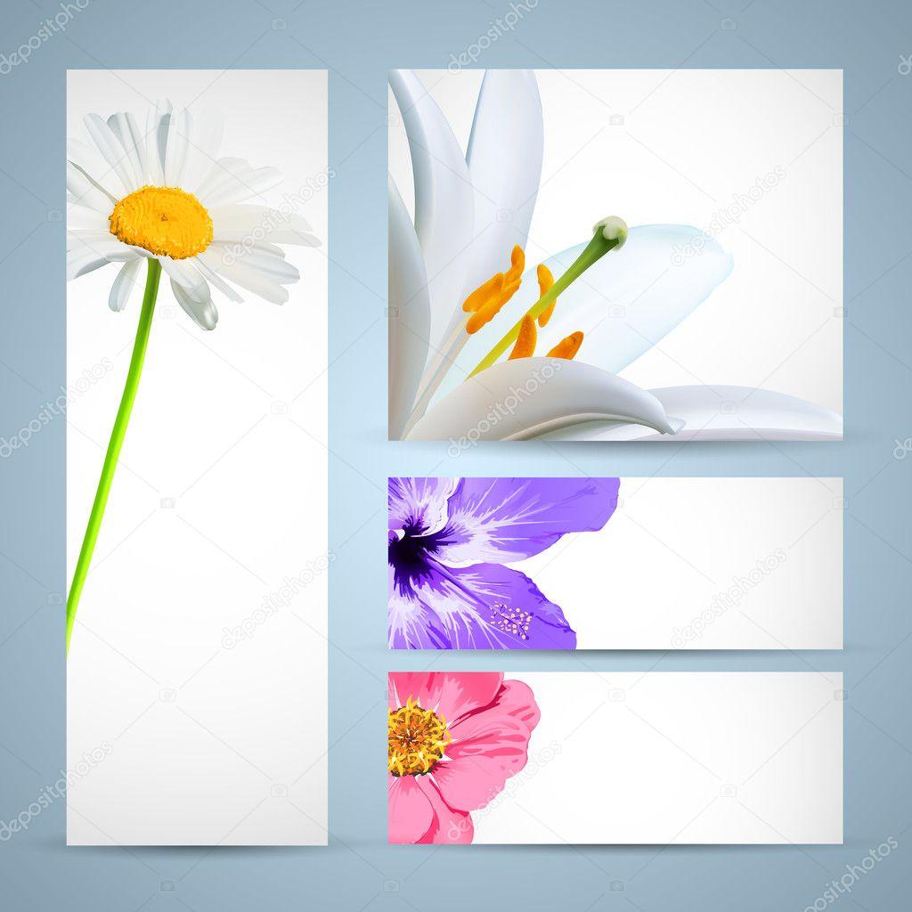 Flower Brochure Template. Background Design