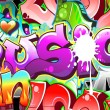 Graffiti Urban Art Background. Seamless design — Stock Vector