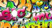 Graffiti Urban Art Background. Seamless design — Stok Vektör