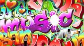 Graffiti Urban Art Background. Seamless design — Vettoriale Stock