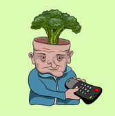 Tv bağımlısı — Stok Vektör