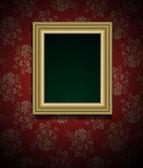 рамка рисунка на гранж стены вектор ретро дизайн — Cтоковый вектор