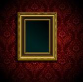 Ramka na zdjęcia na nieczysty ścian sztuka wektor — Wektor stockowy