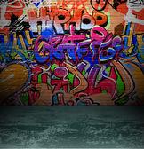 Boyama grafiti duvar kentsel sokak sanatı — Stok Vektör
