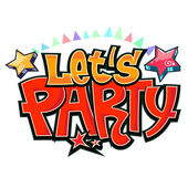 Let's party graffiti vector — Stock Vector
