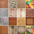 Set of backgrounds and structures for design — Stock Photo
