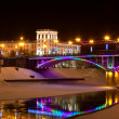 He night city of Vitebsk, Belarus — Stock Photo