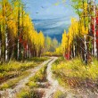 Oil Painting - gold autumn — Stock Photo #8014321