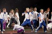 """身份不明的孩子,从跳舞组""""贝尔卡"""" — 图库照片"""