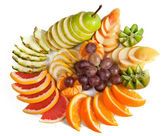 Orange, kiwi, grapes, apple, pear — 图库照片