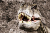 Tyrannosaurus showing his toothy mouth — Stock Photo