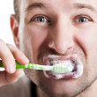 Teeth brushing — Stock Photo #9292410