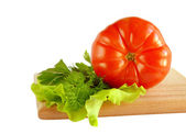 Ensalada de tomate y verde — Foto de Stock