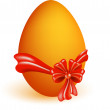 Easter egg with red bow — Stock Vector