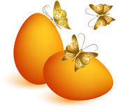 Easter egg with butterflies — Vecteur