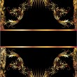 Black background with copper ornament - Imagens vectoriais em stock