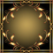 Background with golden ornament - Stok Vektr