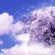 Lilac in the clouds — Stock Photo